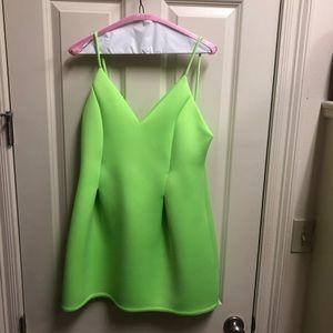 Neon scuba mini dress